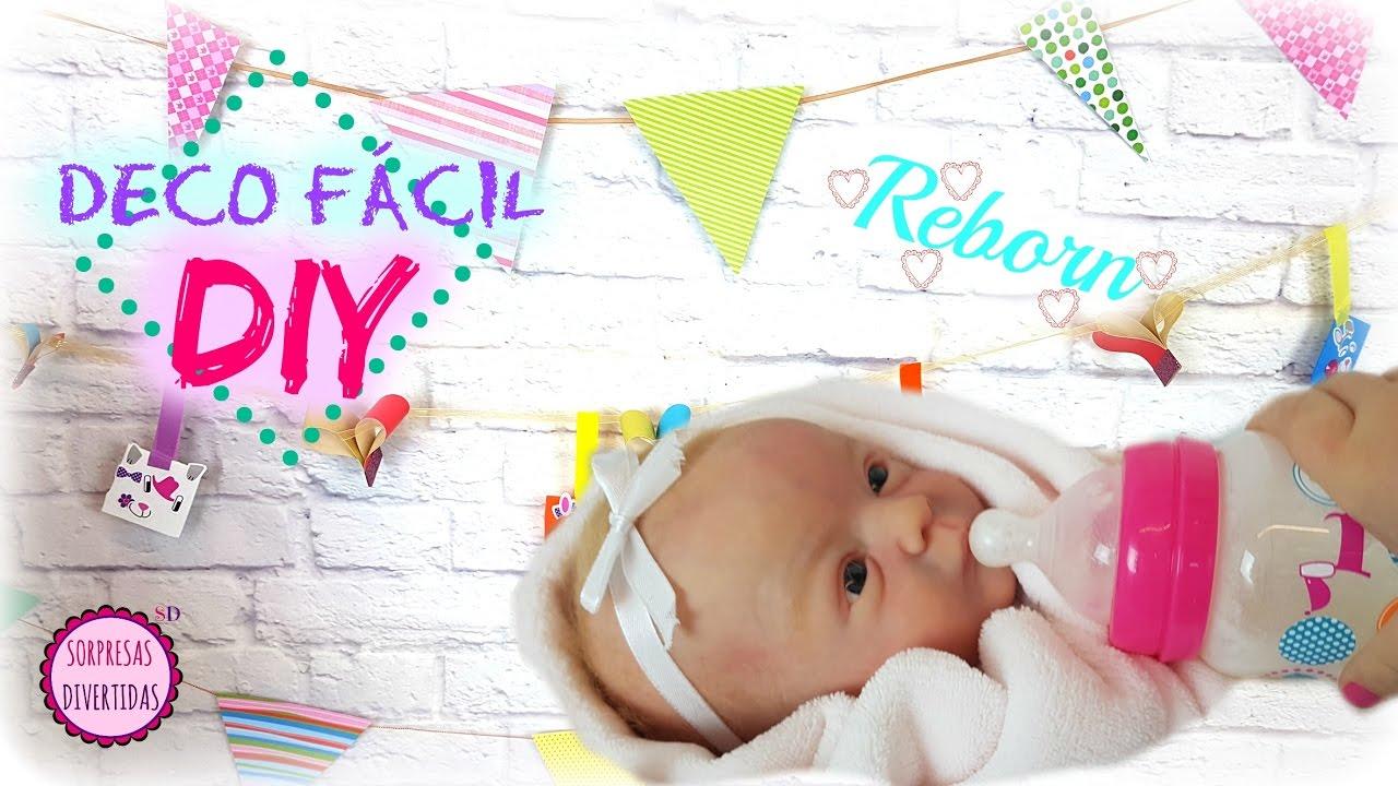 Diy decoraciones para habitaci n de mi beb reborn manualidades f ciles con ni os youtube - Decoraciones para bebes ...