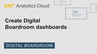 إنشاء الرقمية الإدارة لوحات: SAP تحليلات سحابة (2018.9.5)