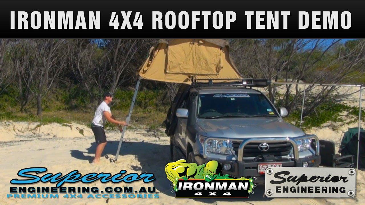 Ironman 4x4 Rooftop Tent Setup Demo