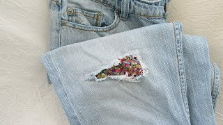 How to repair a hole in your jeans - #110