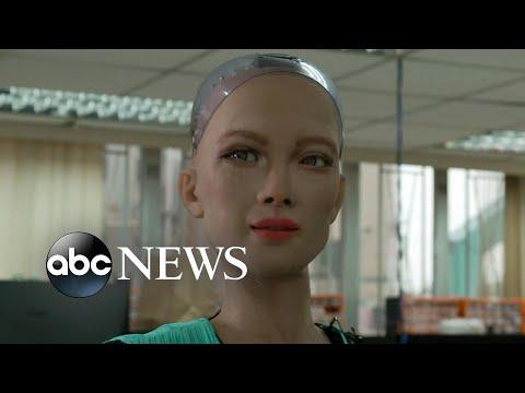 Creators of famous Sophia robot reveal AI robotics for children, elderly   Nightline