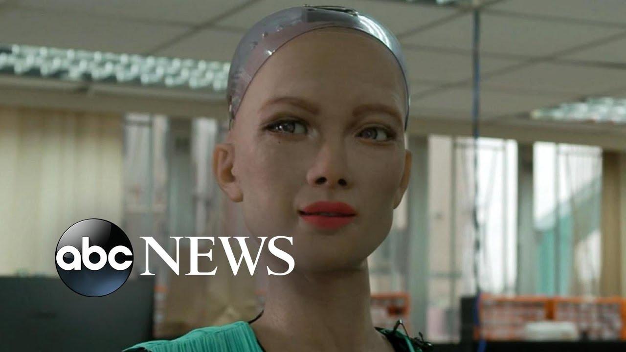 Download Creators of famous Sophia robot reveal AI robotics for children, elderly | Nightline
