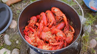 SPICY Crawfish Catch n' Cook on the Riverside!!!