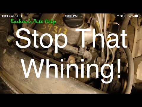 How to diagnose a whining noise in your accessory drive