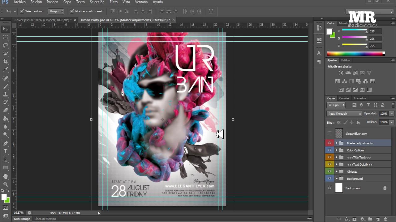 flyer o poster editable para photoshop youtube