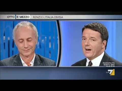 Marco Travaglio - Matteo Renzi / Otto e mezzo 22 settembre 2016
