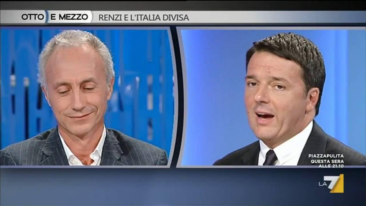 Marco Travaglio Matteo Renzi Otto E Mezzo 22 Settembre