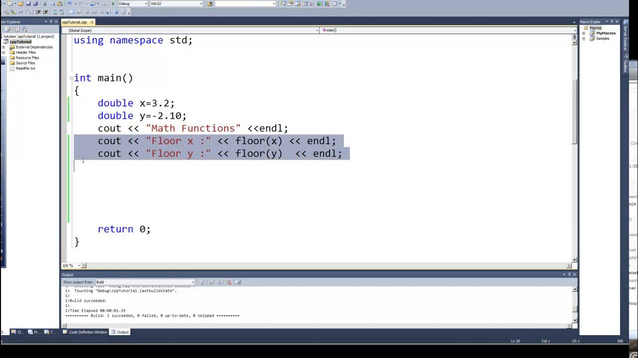 Programming In C Amp C Episode 0042 Math Functions