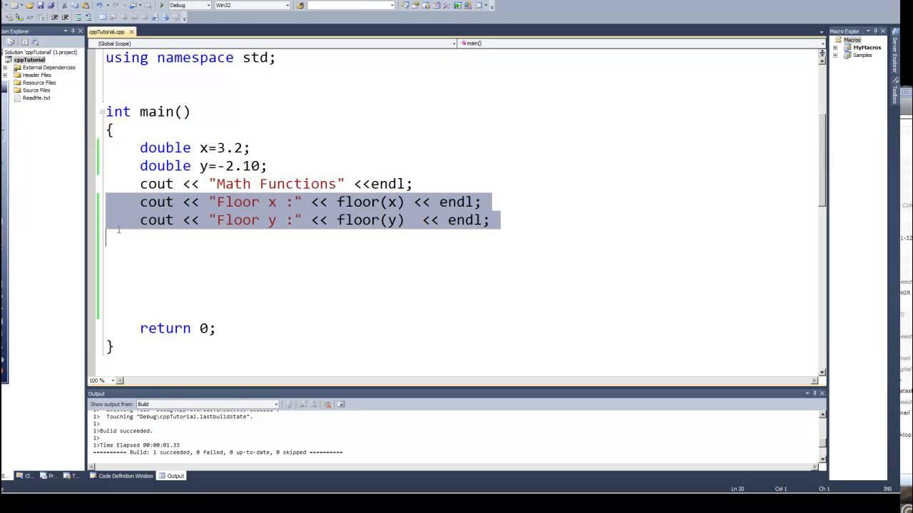 Programming in C & C++ Episode 0042 - Math Functions ...