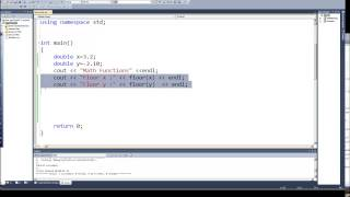 Programming in C & C++ Episode 0042 - Math Functions - floor and ceil