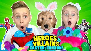 Heroes and Villains EASTER Edition! Easter Puppy and Egg Hunt! KIDCITY Family
