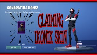 IKONIK SKIN - CLAIMING - REDEEM - FORTNITE BATTLE ROYALE - SAMSUNG GALAXY S10+ PLUS EMOTE SCENARIO