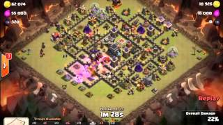 Clash Of Clans - Kevin hall9 attack strategy - Egypt heroes
