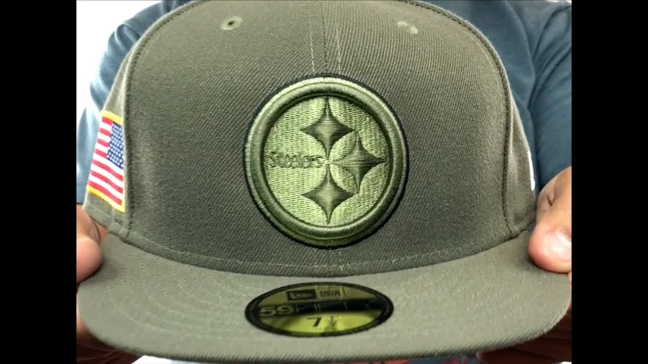 Steelers  2017 SALUTE-TO-SERVICE  Green Fitted Hat by New Era - YouTube 4c2edee3b