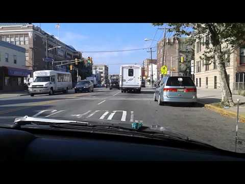 Driving in Kennedy Blvd in Jersey City, NJ (in the Heights section)