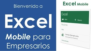 Bienvenido a Excel Mobile para Empresarios