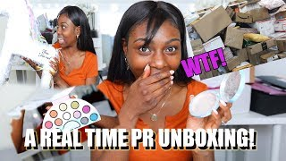 WHAT HAPPENED TO MY PR!? FULL UNBOXING & FIRST IMPRESSIONS  OF NEW MAKEUP thumbnail