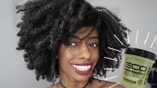 Natural Hair Wash and Go with Eco Styler Black Castor and Flexseed Gel | Type 4 Kinky Coarse Hair