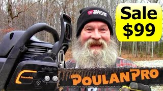 NEW Poulan Pro Chainsaw 18 Inch 42cc Unboxing Start Up and Operation