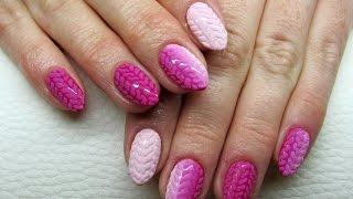 Sweater ombre nails - Jak zrobić sweterkowe paznokcie? Basevehei