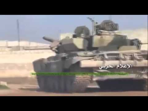 Russian T-90 Tank in Action Syria