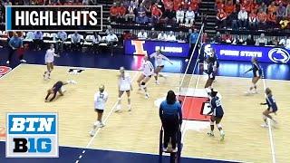Highlights: Penn State at Illinois   B1G Volleyball   Nov. 15, 2019