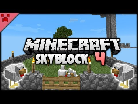 DUPLICATING DIRT & Animals Finally! | SkyBlock (Minecraft Survival Let's Play) | Episode 4