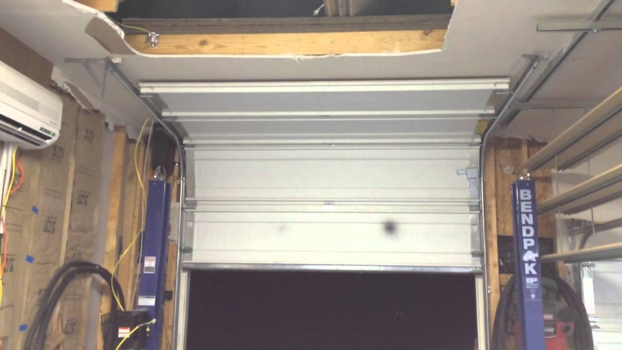 high lift garage door openerHigh lift side mount garage door opener  YouTube