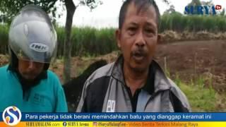 SEREM! Pekerja Jalan Tol Tak Berani Pindahkan Batu Keramat di Malang Ini