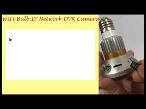 EAZZYDV WiFi Bulb P2P IP Network Camera Installation Guide
