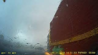 Lisa's dash cam of tornado and the damage in Dunrobin