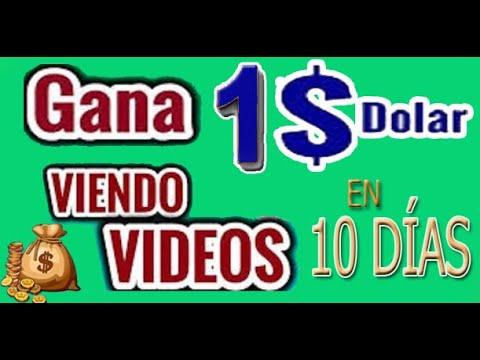 1 DOLAR en 10 días o 1 MILLÓN en un año VIENDO VÍDEOS