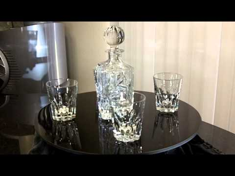 Crystal Decanter and Tumblers set
