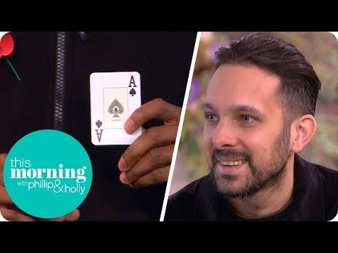 Crew Member Wows Dynamo With His Own Card Trick! | This Morning
