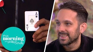 Download Video Crew Member Wows Dynamo With His Own Card Trick! | This Morning MP3 3GP MP4