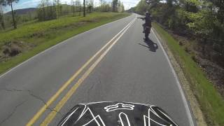 Top speed run with a CRF50 124cc V2 roller rocker head 60+mph