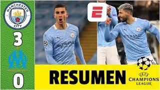 Manchester City 3-0 Marsella. Goles de Torres, Agüero y Sterling. Pep, INVICTO | Champions League