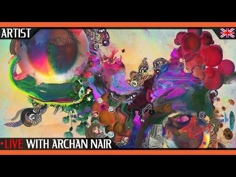 Live with Archan Nair | Visual Artist, Illustrator, Art Director and Digital Artist from New Delhi