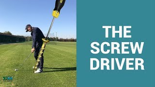 The Screwdriver drill for a stable spine angle in your golf swing