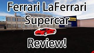 Ferrari LaFerrari Recensione in Simulatore veicolo! (Roblox)