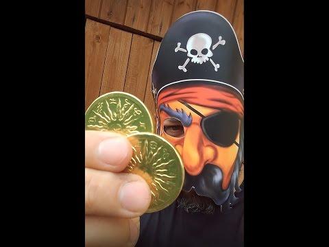 Ищем пиратский клад!!! Золотые монеты, загадки, задания, квест, дартс, карты сокровищ