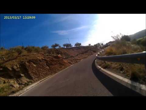 Excellent route, excellent weather - bikeroute in Monte de Malaga , moto Malaga