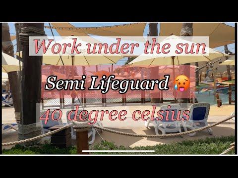 Semi Lifeguard in one day 😭🤣//Yas Water World Abu Dhabi
