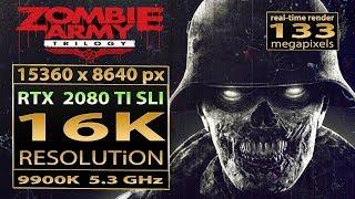 Zombie Army Trilogy 16K resolution | RTX 2080 Ti SLI | Zombie Army Trilogy 16K gameplay