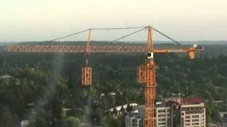 Монтаж башенного крана(Аренда башенного крана для больших строительных объектов, легкость монтажа. Подробнее тут http://tmrout.by/arenda_spec_t..., 2015-05-08T11:12:18.000Z)