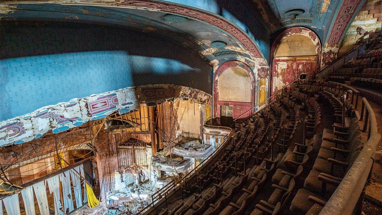 Rare Abandoned Double Decker Theater - Built in 1915