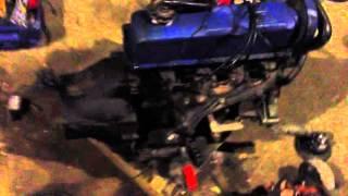 Motor OHC 2.3 Ford(Motor original que ficou parado à anos. Colocar bateria, limpar carburador e afinar., 2016-01-20T22:59:52.000Z)