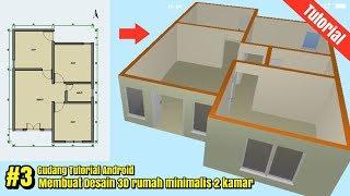 Desain Rumah 3D  6x9 minimalis  2 kamar di android || part #3
