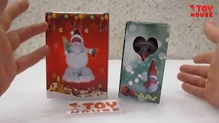 Новогодние фигурки. Светящийся ДЕД МОРОЗ и СНЕГОВИК. Обзор новогодних игрушек.