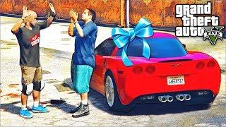 РЕАЛЬНАЯ ЖИЗНЬ В GTA 5 - РЕАКЦИЯ САЙМОНА НА ШЕВРОЛЕ КОРВЕТ! ПОДАРИЛИ САЙМОНУ Corvette!⚡ГАРВИН
